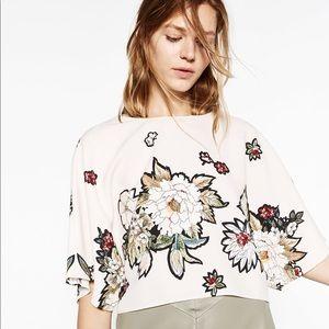 Zara Basic Cropped Short Sleeve